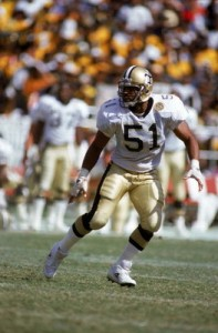 Sam Mills was the defensive leader of the Saints during the late 1980s and early 1990s.