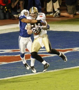Jeremy Shockey caught the go-ahead touchdown with little more than five minutes remaining in the game.