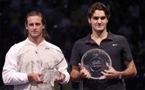 Nalbandian defeats Federer in Madrid