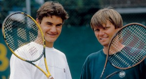 Federer, with his coach the late Peter Carter, was just beginning his rise to the top in 1999.