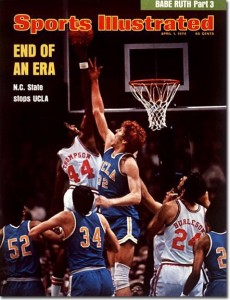 N.C. State ended UCLA's run of seven straight national titles in 1974.