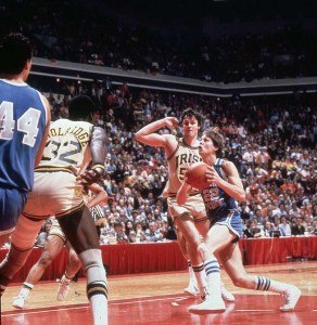 Danny Ainge made a magical shot to defeat Notre Dame in the 1981 NCAA Tournament.