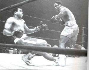 Frazier knocked Ali down for only the third time in his career in the final round of their first meeting.