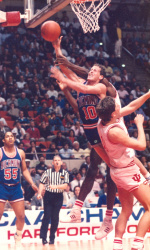 Ken Atkinson and Richmond upset defending NCAA Champion Indiana in the opening round of the 1988 tournament.