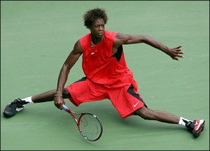 Frenchman Gael Monfils is known for his pure athleticism on court.