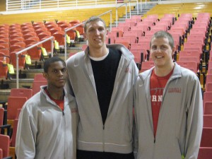 Seniors (from L-R) Louis Dale, Jeff Foote, and Ryan Wittman have been pivotal to Cornell's success over the last four years.