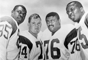 Merlin Olsen was part of the famous Fearsome Foursome of the 1960s.