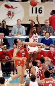Keith Smart hit the game winning shot to give Indiana the national title.