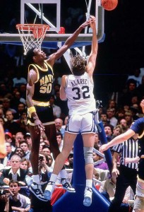 David Robinson and Navy reached the NCAA Tournament Elite Eight in 1986.