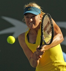 Maria Sharapova loses to Zheng Jie of China at Indian Wells tournament.