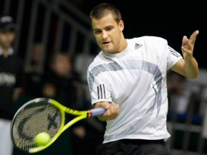 Mikhail Youzhny during recent Davis Cup play vs. India