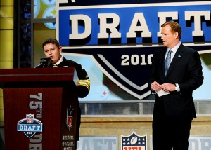 Pittsburgh Steelers fan Zachary Hatfield got to fulfill a dream by announcing the first round draft pick for the Pittsburgh Steelers.