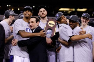 Coach Mike Krzyzewski and Duke claimed their fourth NCAA title and first in nine years.