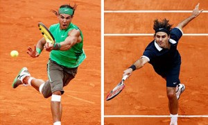 Top two active French Open finalists, Rafael Nadal and Roger Federer.