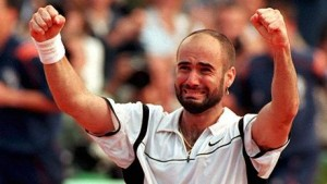 Andre Agassi French Open win in 1999 gave him a career Grand Slam.