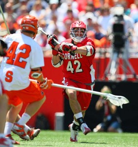Cornell's Max Seibald, the 2009 Tewaaraton Trophy Winner, looks to pass upfield during the title game.