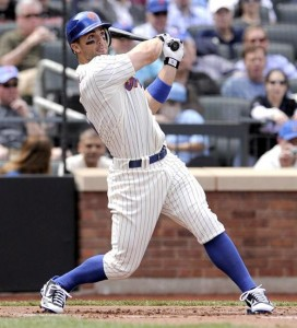 David Wright blasted a two run home run in the season opener against the Marlins.