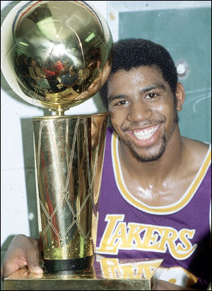 30 Years Ago: Magic Johnson is the Center of Attention ...