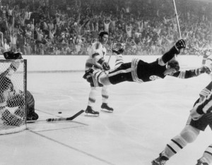 Bobby Orr flying through the air is one of the most memorable images in Stanley Cup history.
