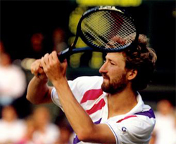 Mecir's ability to stay in the point kept him in the match.