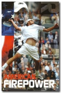Andy Roddick as Captain America evades the clay.