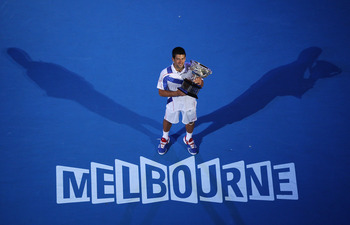Novak Djokovic won the Australian Open four times.