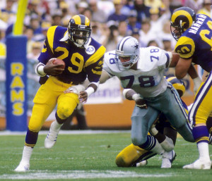 Eric Dickerson rushed for a record 2,105 yards in 1984.