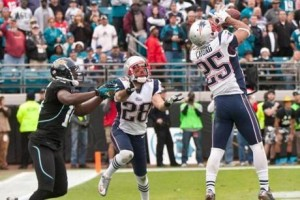 This interception by Patrick Chung sealed the 11th win of the season for the Patriots on the final play of the game against Jacksonville.