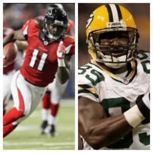It's a Jones thing: James and Julio Jones both caught multiple touchdown passes Sunday. The pair has combined for 10 such games since the start of last year.