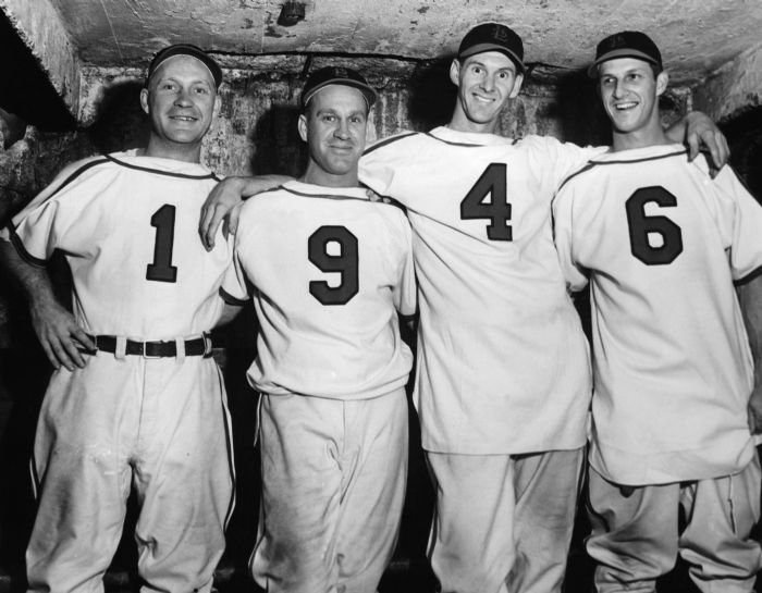The 1946 Cardinals won the World Series for the third time in five years.