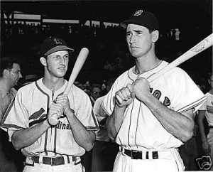 Musial and Ted Williams were widely considered the two best hitters of their era.