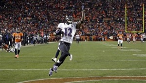 Obi-WON-Jacoby: Joe Flacco's 70-yard TD pass to Jacoby Jones with 31 seconds left in regulation sent the game to overtime, where the Ravens eventually shocked the Broncos.