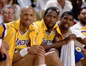 "Now this group (Kareem Abdul-Jabbar, James Worthy and Magic Johnson) is a real ""big three."""