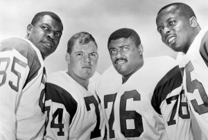 Lamar Lundy, Merlin Olsen, Rosey Grier and Deacon Jones were better known as the Fearsome Foursome.