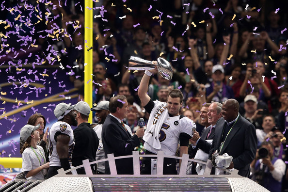 Joe Flacco and the Ravens hope they will again be hoisting the Lombardi Trophy following the 2013 season.