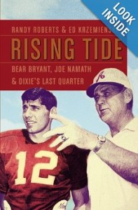 The new book looks at the sometimes dicey relationship between two Alabama legends Bear Bryant and Joe Namath.