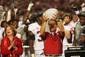 Will Nick Saban again be lifting the BCS crystal when the season is over?