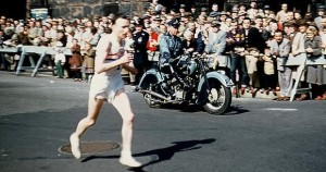Jim Peters set the world marathon record four times between 1952 and 1954.