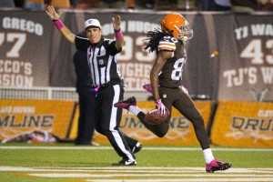 Travis Benjamin had a career night in the return game for the red-hot Browns.