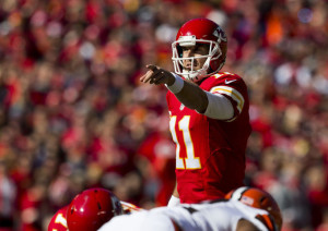 With a 9-0 record to start the season, Alex Smith has the Kansas City Chiefs pointing in the right direction.