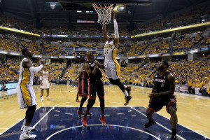 Paul George and the Indiana Pacers have emerged as the top threat to end the reign of LeBron James and the Miami Heat.