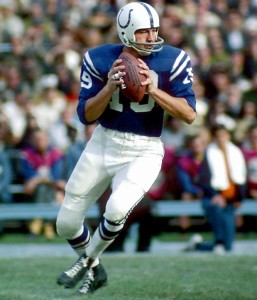 In 1959 Johnny Unitas became the first quarterback in NFL history to throw for more than 30 touchdowns in a season.