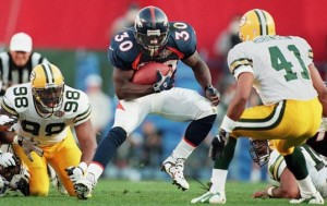 Terrell Davis was a dominant force in Super Bowl XXXII.