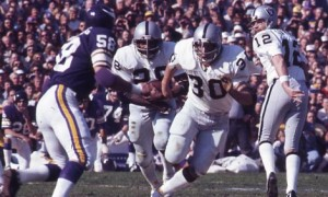 Clarence Davis rushed for 137 yards in Super Bowl XI.