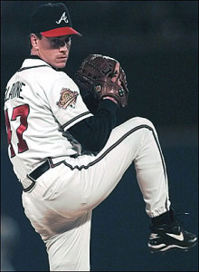 Tom Glavine won 305 games and two Cy Young awards during his career.