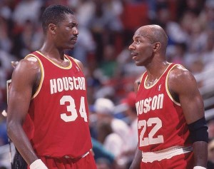 Hakeem Olajuwon and Clyde Drexler couldn't bring the Rockets a third straight title.