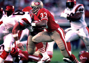 Roger Craig gained 172 yards in total offense in Super Bowl XXIII.