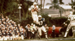 George Sauer caught eight passes for 133 yards in Super Bowl III.