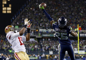 It might have been better if Richard Sherman had let his play on the field do all his talking.
