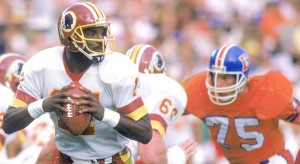 Doug Williams had a dominant second quarter in Super Bowl XXII.
